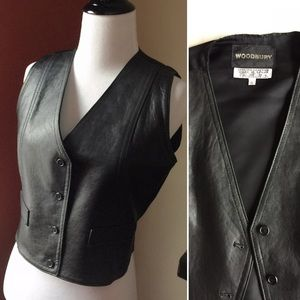 Vintage genuine leather made in Brazil vest size S